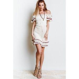 🔥 Cleobella crochet off the shoulder Lila dress
